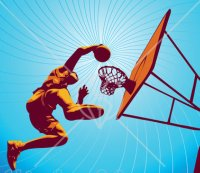 Basketball Dunk ClipArt